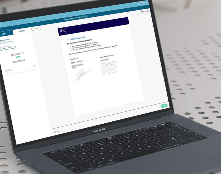 Génération et signature électronique de documents